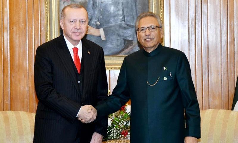 ترکی کے صدر رجب طیب اردوان پاکستانی ہم منصب ڈاکٹر عارف علوی سے ملاقات کے لیے ایوان صدر پہنچے — ثنااللہ