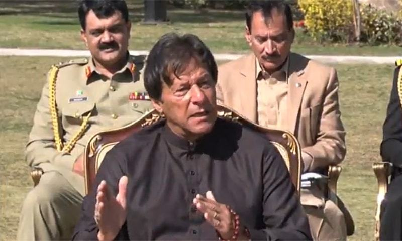Prime Minister Imran Khan while talking to journalists at his Banigala residence had reportedly said that the army knew well that neither he was making money nor was he corrupt as he was working hard day and night and, therefore, he was not afraid of the army. — Screengrab courtesy APP video/File