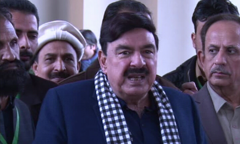"Railway Minister Sheikh Rashid Ahmed has said JUI-F Chief Maulana Fazlur Rehman will be ""nabbed"" if he comes to Islamabad again with an intention of staging a sit-in there.   — DawnNewsTV/File"