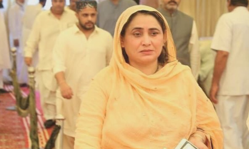 PPP lawmaker Shahnaz Ansari was shot dead in Sindh's Naushahro Feroze district on Saturday. — DawnNewsTV