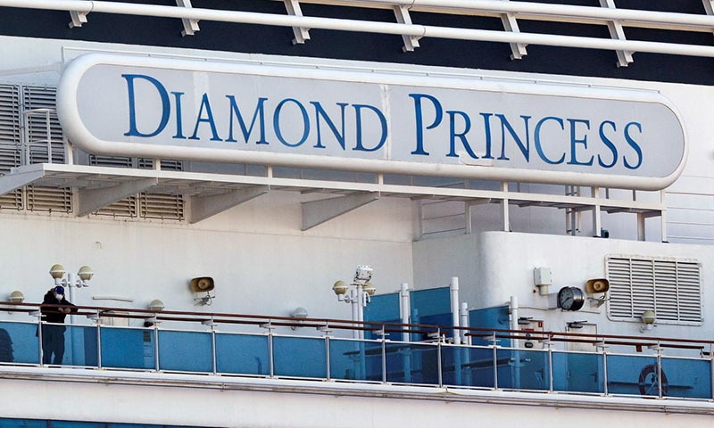 Diamond Princess coronavirus lockdown passengers wait for evacuation plan