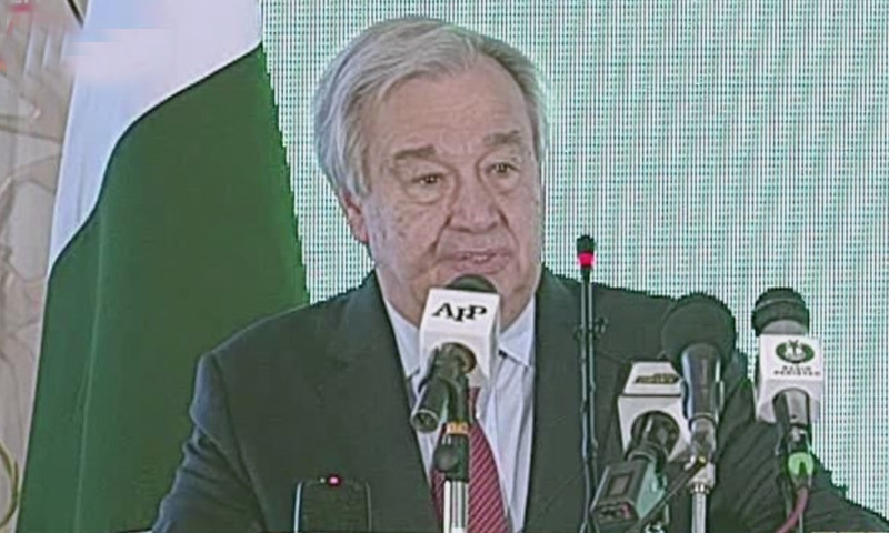Pakistan contributes little to climate change but is among the most impacted by it: UN chief