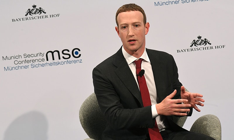 The founder and CEO of Facebook Mark Zuckerberg speaks during the 56th Munich Security Conference in Munich, southern Germany, on February 15, 2020. — AFP