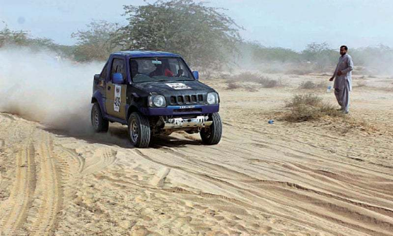 Both Nadir Magsi and Tushna Patel, the defending champions, maintained their supremacy in their respective categories in the 15th Cholistan Jeep Rally by securing first positions in the annual event held at the Derawar Fort, some 70km from here on Sunday. — APP/File
