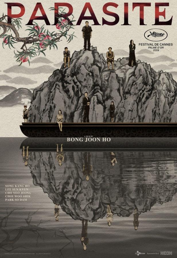 Poster for South Korean film, Parasite