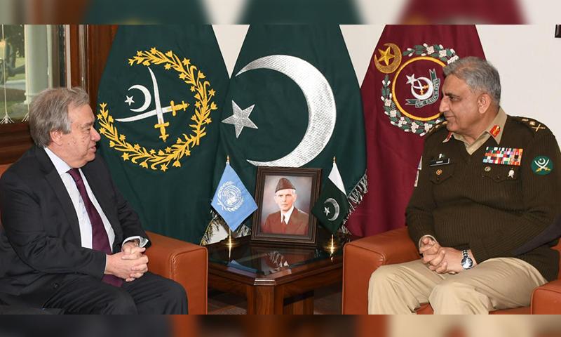 سیکیورٹی، خطے میں امن کیلئے پاکستان کی کاوشیں قابل تحسین ہیں، سیکریٹری جنرل یو این