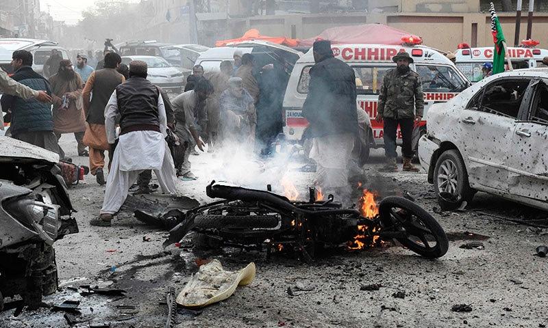 کوئٹہ میں خود کش دھماکا، 8 افراد جاں بحق