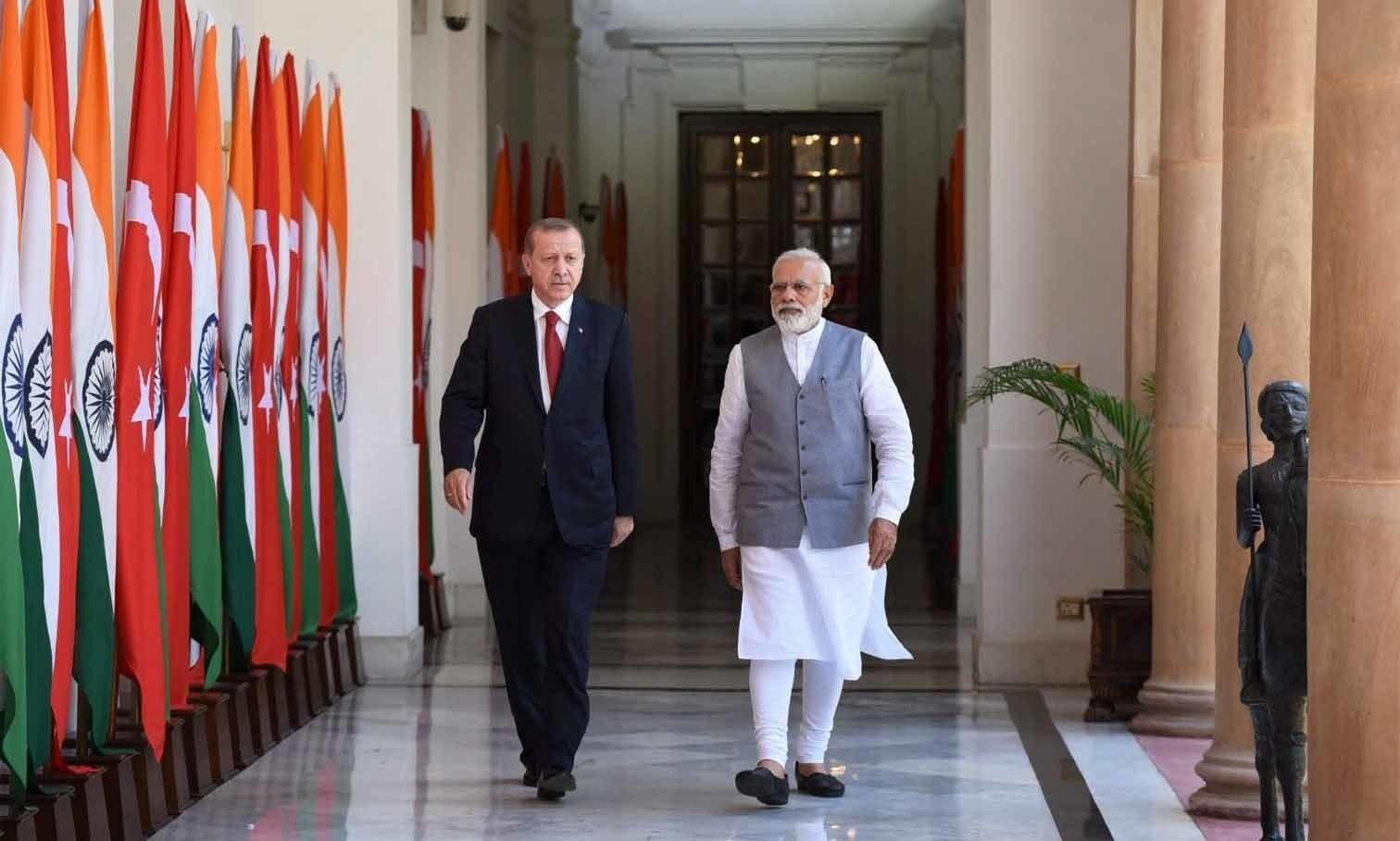 رجب طیب اردوان کا کشمیر سے متعلق بیان، بھارت میں ترک سفیر طلب