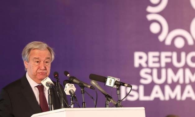 Guterres's main engagement was the Refugee Summit in Islamabad. The event marked 40 years of Pakistan hosting millions of Afghan refugees. — Photo courtesy: Guterres's Twitter