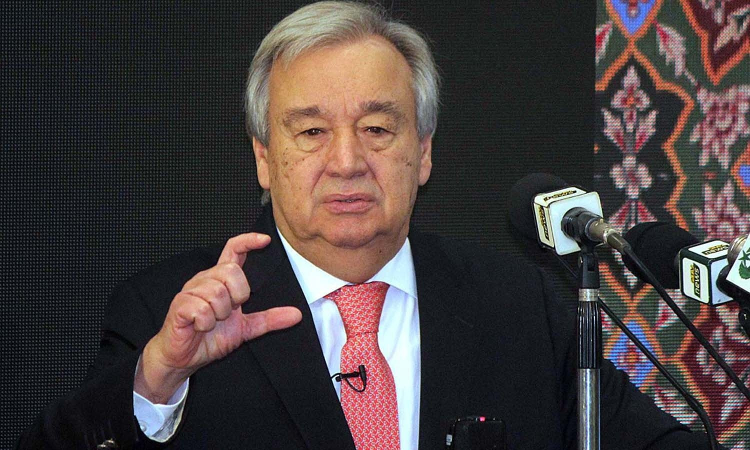 UN Secretary General Antonio Guterres also spoke at Lums on the role of youth in the world. — APP