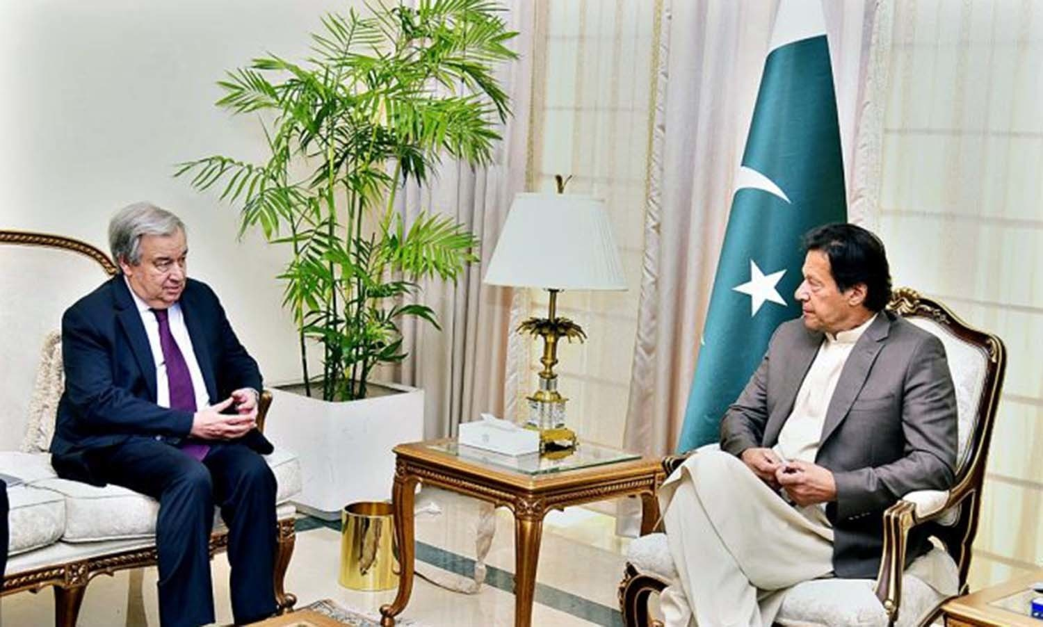 The UN chief also met with Prime Minister Imran Khan at his office. — APP