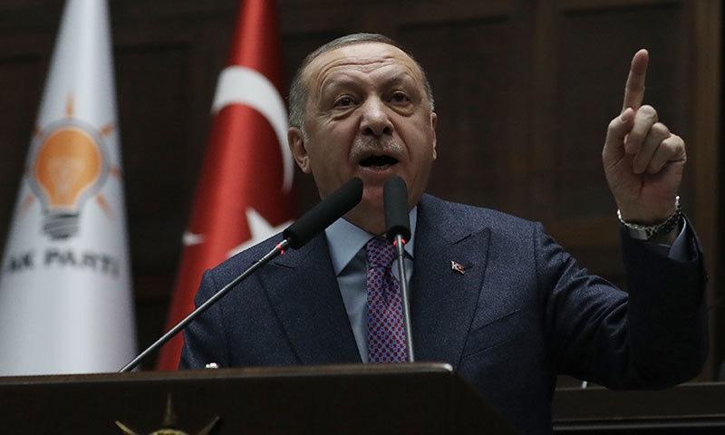 ترک صدر نے شامی حکومت کو خبردار کردیا—فوٹو:اے پی