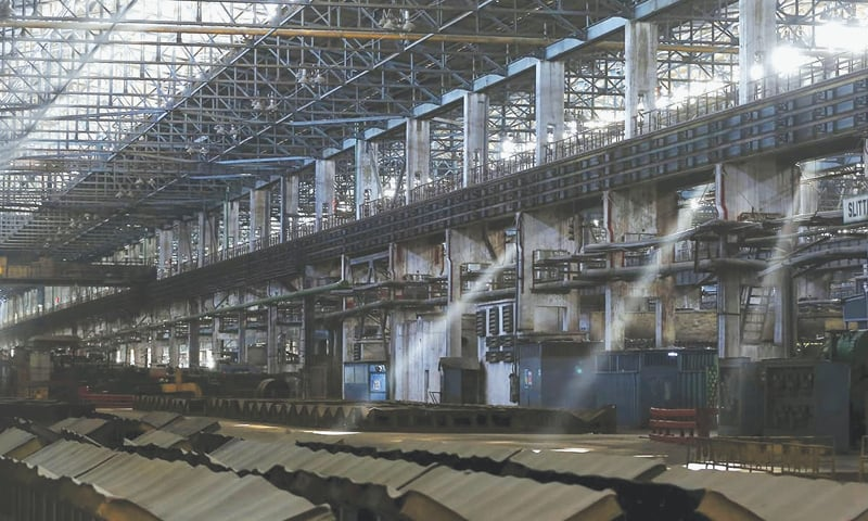 A view of the deserted hot strip mill.—File photo