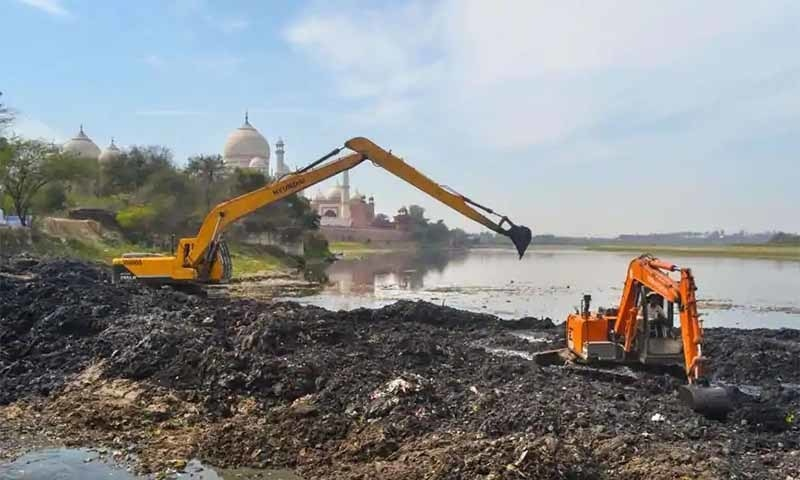 """Ahead of US President Donald Trump's visit to Agra, the Uttar Pradesh Irrigation Department has released 500 cusecs of water from Bulandshahr into River Yamuna to improve its """"environmental condition"""", reports said on Wednesday. — PTI via Hindustan Times"""