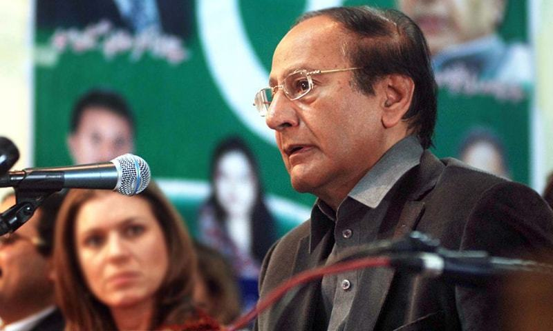 """Hardly a week after announcement that differences between coalition partners have been resolved, Pakistan Muslim League-Quaid (PML-Q) president Chaudhry Shujaat Hussain on Wednesday took on those close to Prime Minister Imran Khan, saying the PTI government cannot deliver until he gets rid of """"hypocrites and sycophants"""" around him. — APP/File"""