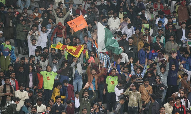 """The team was not expecting """"such a big crowd of some 19,000 people, hungry to watch some cricket"""", said Sangakkara. — Photo courtesy - PCB"""