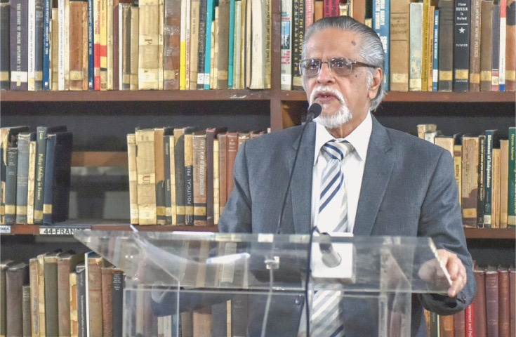 Dr Muhammad Reza Kazimi speaks at the event.—White Star