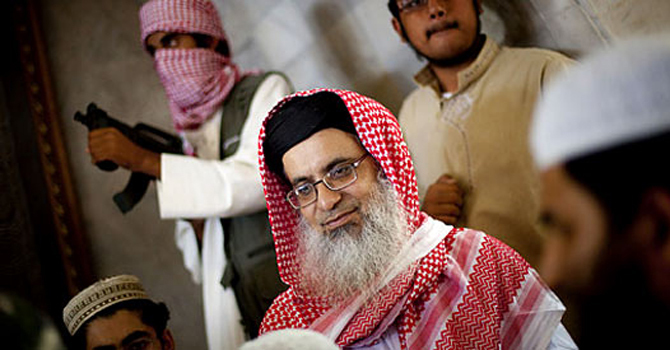 Like the previous attempt made by a group of Ulema, an effort made by Pakistan Ulema Council (PUC) Chairman Hafiz Tahir Ashrafi to end the Lal Masjid standoff on Thursday remained fruitless as Maulana Abdul Aziz (pictured) refused to accept the legal points forwarded by the government related to his demands. — AP/File