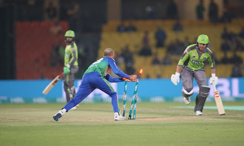 An action shot from the Qalandars vs Sultans encounter. — Photo courtesy PCB