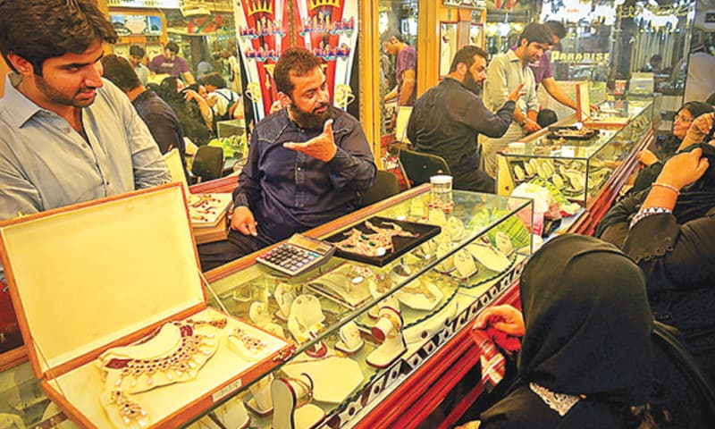 Jewellery dealers are facing low turnout of buyers due to skyrocketing yellow-metal prices.