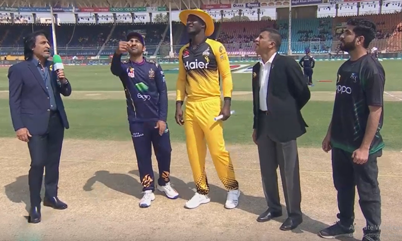 Captain Darren Sammy, after winning the toss, said that the pitch has been favouring bowlers and thus the team will bowl first. — DawnNewsTV