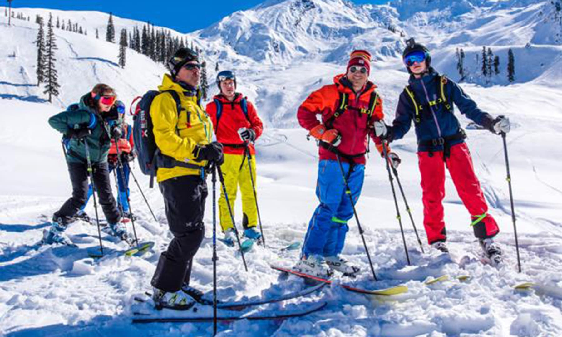 Around 60 foreigners took part in the heli-ski trip. — Photo courtesy ISPR