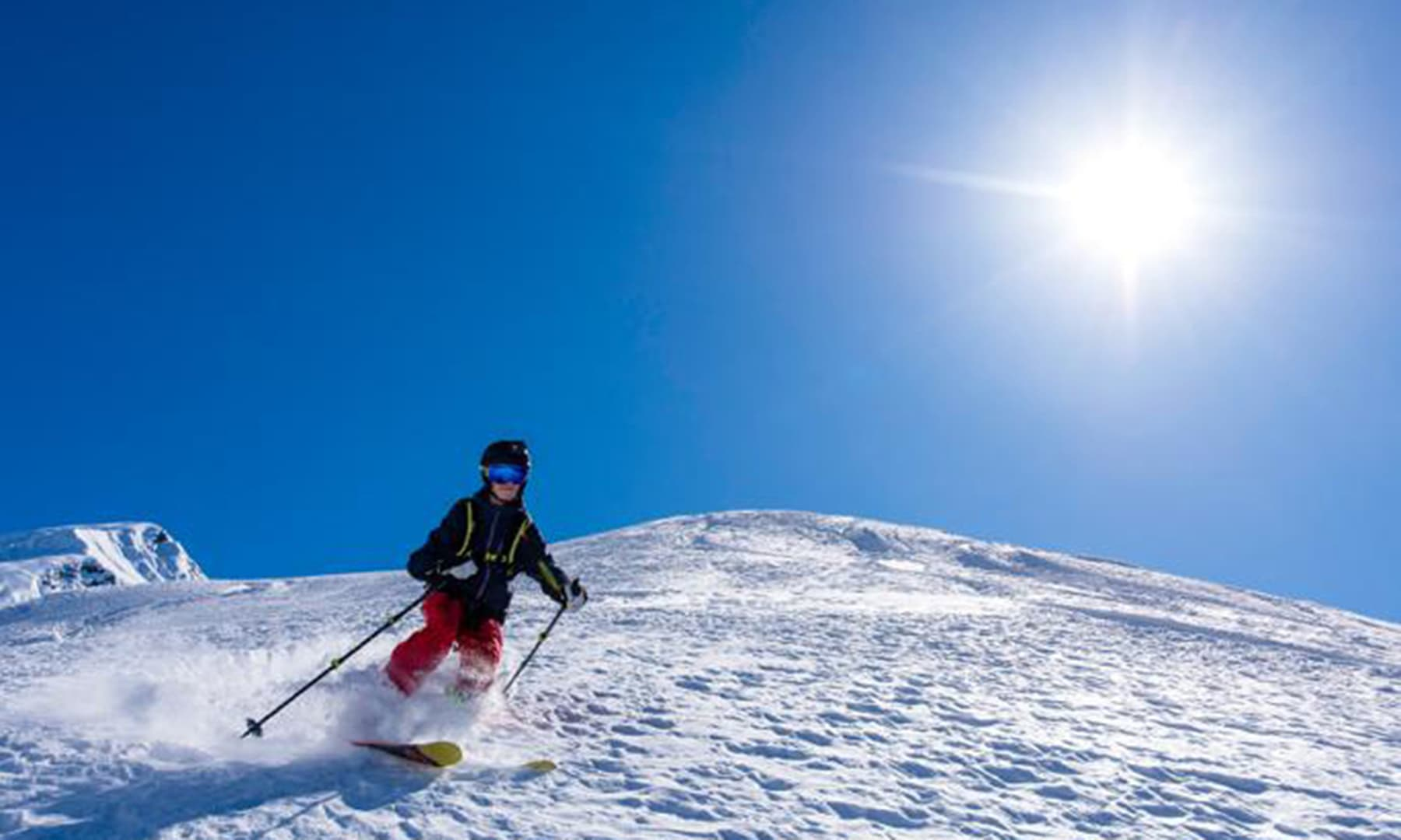 Skiing on the fresh powder on the mountains in Shogran. — Photo courtesy ISPR