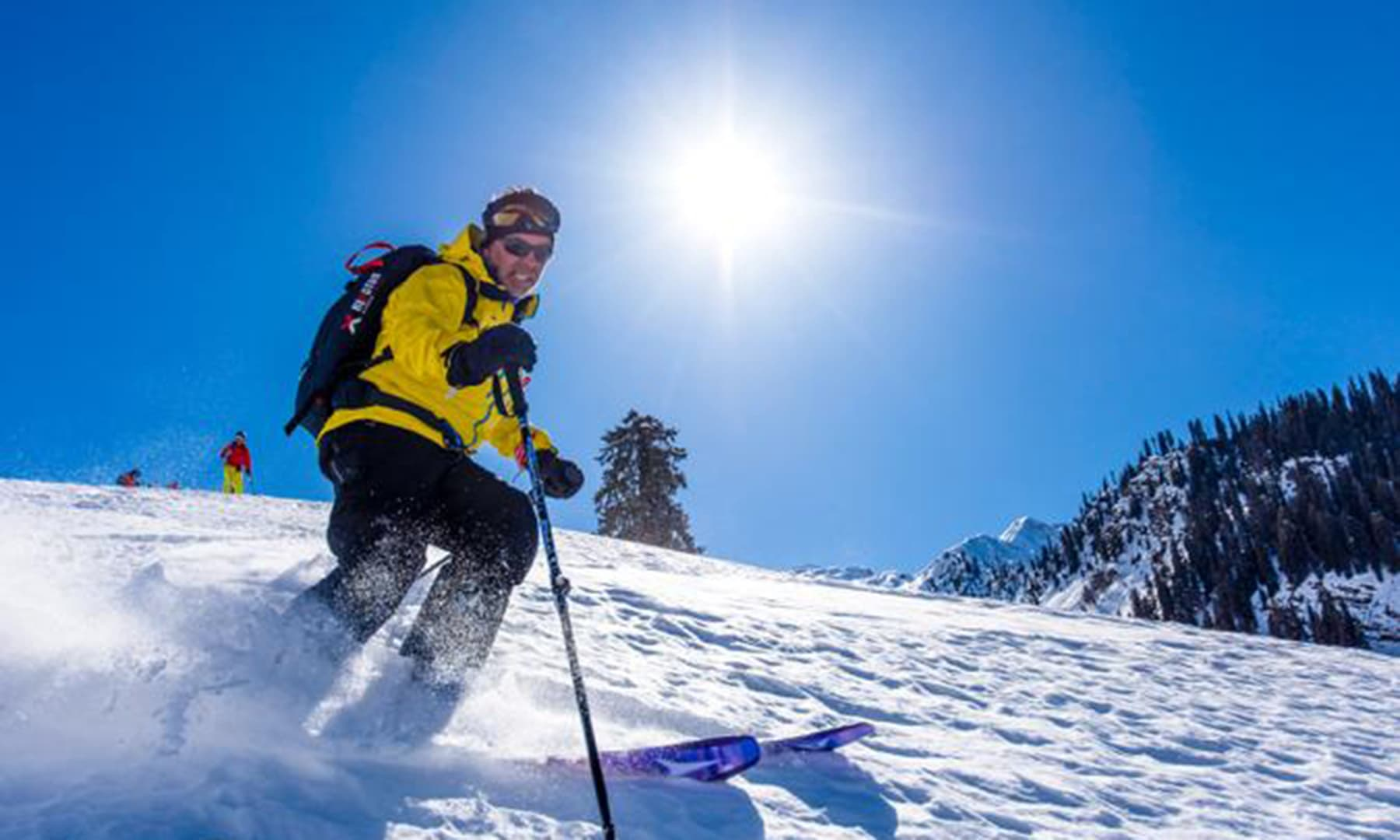 The trip was an effort to promote tourism and winter sports in Pakistan. — Photo courtesy ISPR
