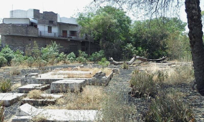 A view of the Zoroastrian graveyard in Peshawar Cantonment. — Dawn