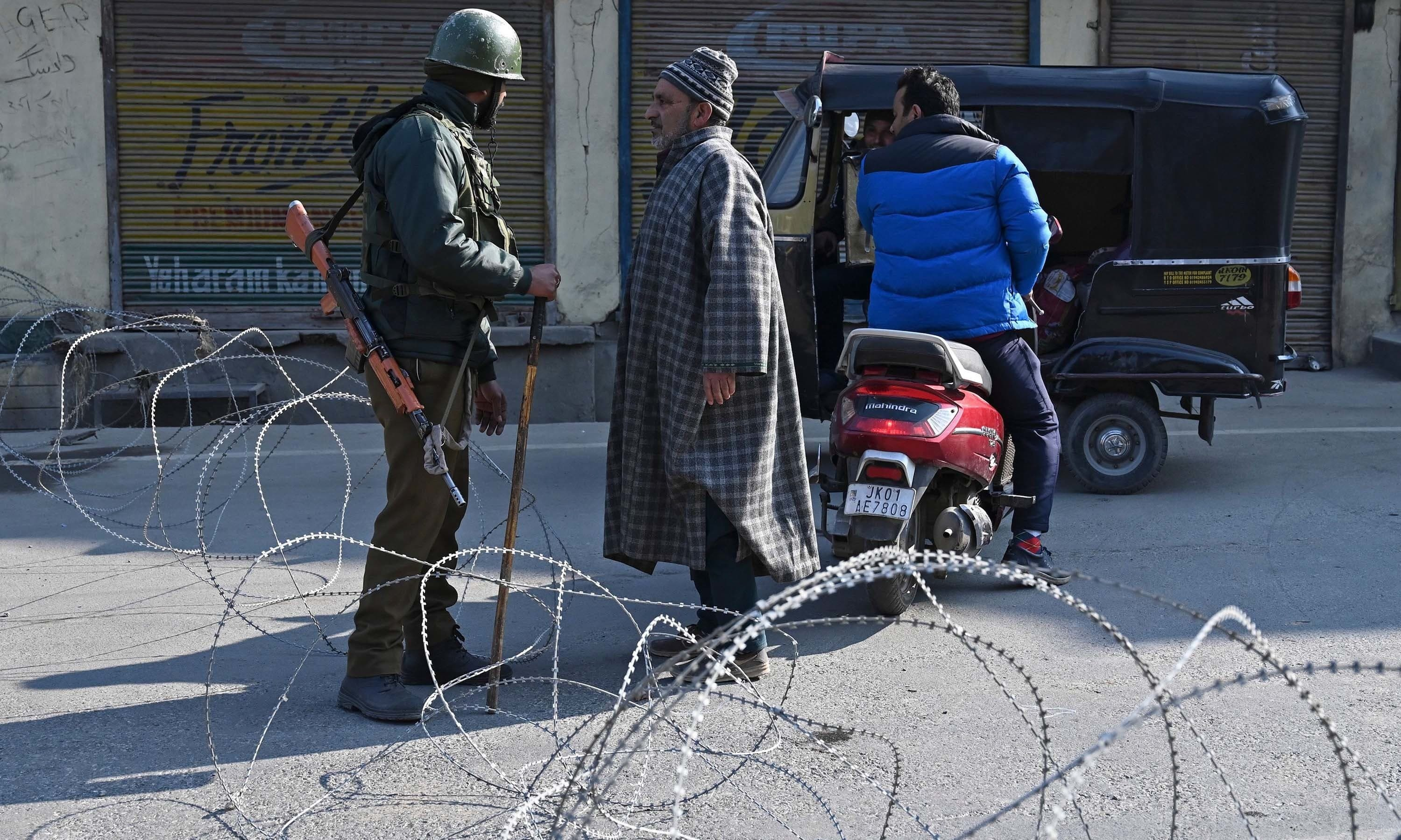 Atrocities being perpetrated by the Indian forces in occupied Kashmir and the maltreatment of minorities in India are not among the European Union's human rights priorities for 2020. — AFP/File