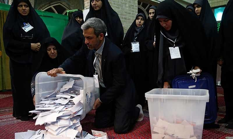 Conservatives ahead as Iran poll results trickle in
