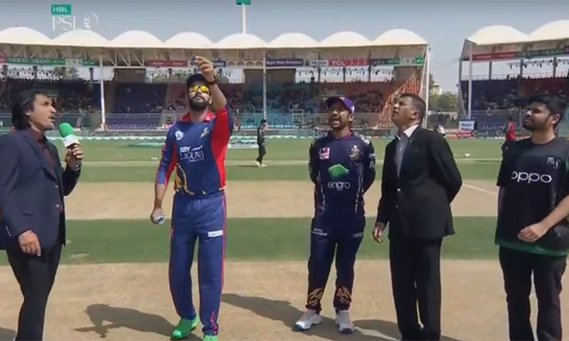 Karachi Kings won the toss on Sunday and opted to bat first against Quetta Gladiators in their PSL 2020 match at National Stadium, Karachi. — DawnNewsTV