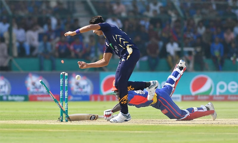 Quetta Gladiators maintain upper hand as Kings lose wickets in quick succession. — Photo courtesy PSL Twitter account