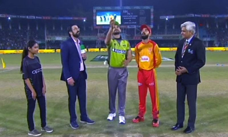 Two-time champions Islamabad United won the toss and elected to bowl first in their Pakistan Super League (PSL) 2020 fixture against Lahore Qalandars. — DawnNewsTV