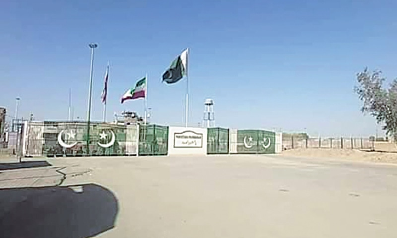 THE gate at Taftan is shut after Pakistan announced the closure of its border with Iran on Sunday.—Dawn.