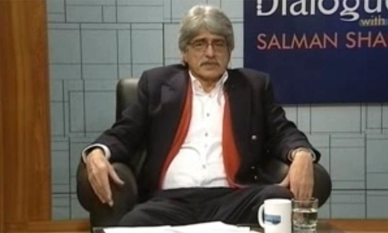 """Last week, Lums hosted Dr Salman Shah, adviser to the Punjab chief minister on economic affairs, for a presentation of the freshly minted """"Business Plan of Punjab"""".  — Screengrab courtesy YouTube video 'Dialogue with Salman Shah'/File"""