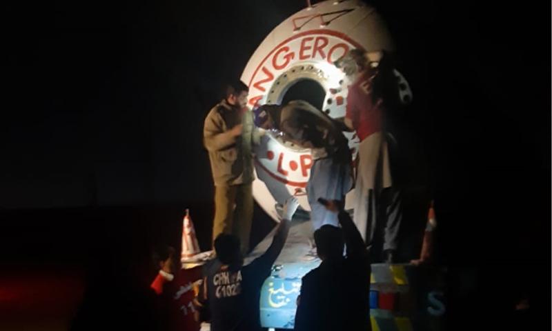دھماکا ایل پی جی کی لوڈنگ کے دوران ہوا—فوٹو: ڈان نیوز