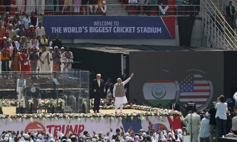 Trump at India rally: US has a 'very good' relationship with Pakistan, hopes for reduced tension in region
