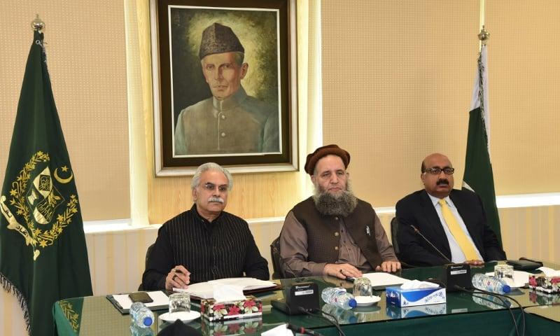 وزیرمذہبی امور کی زیرصدارت اجلاس ہوا — فوٹو: وزارت مذہبی امور