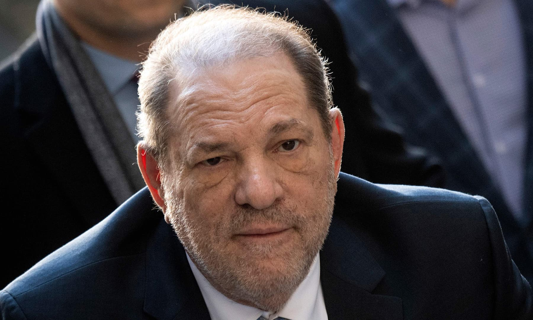 Harvey Weinstein arrives at the Manhattan Criminal Court on Feb 24. — AFP