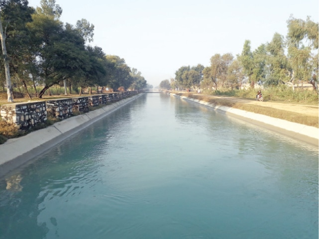 The completed portion of Pehur canal, Swabi. — Dawn