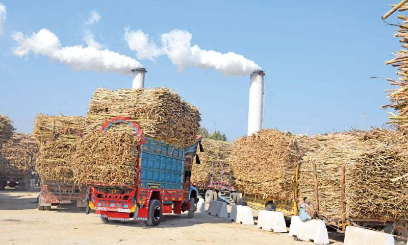 "A team comprising personnel of intelligence agencies, police and officials of the provincial industries department on Mon­day raided a sugar mills owned by the Sharif family near Channigoth, about 70kms from here, ""recovering more than 55,000 sugar bags hoarded there"". — Umair Ali/File"
