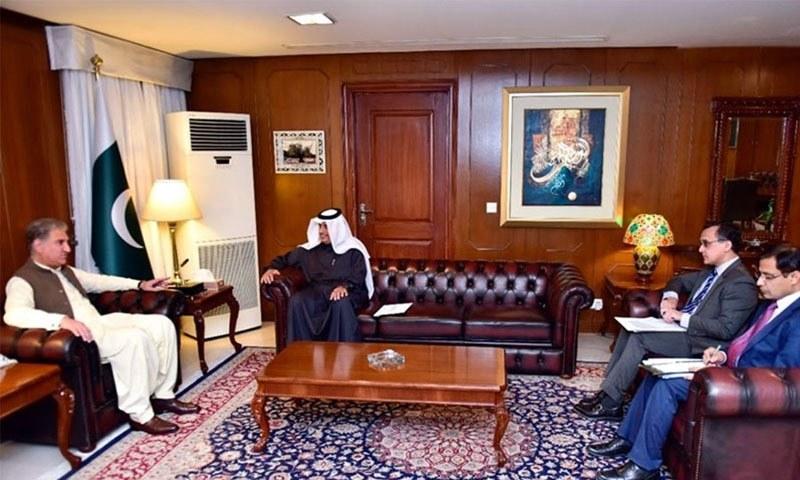 وزیر خارجہ شاہ محمود قریشی سے قطری سفیر نے ملاقات کی — فوٹو: ریڈیو پاکستان