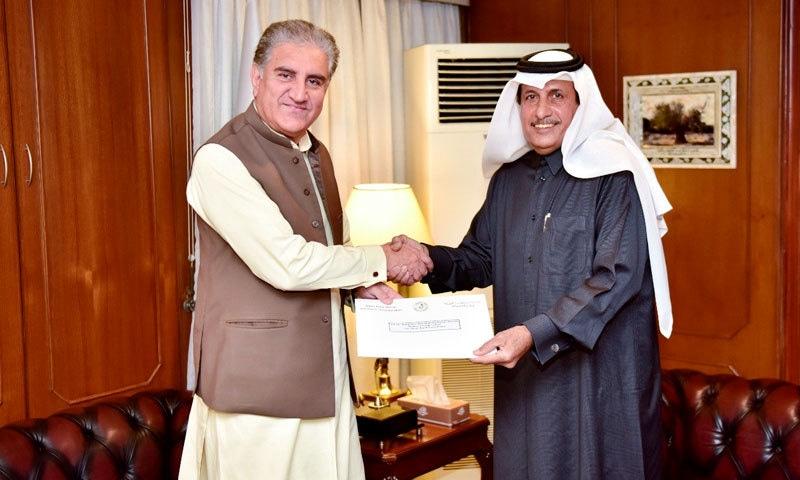 وزیر خارجہ شاہ محمود قریشی سے قطری سفیر نے ملاقات کی — فوٹو: نوید صدیقی