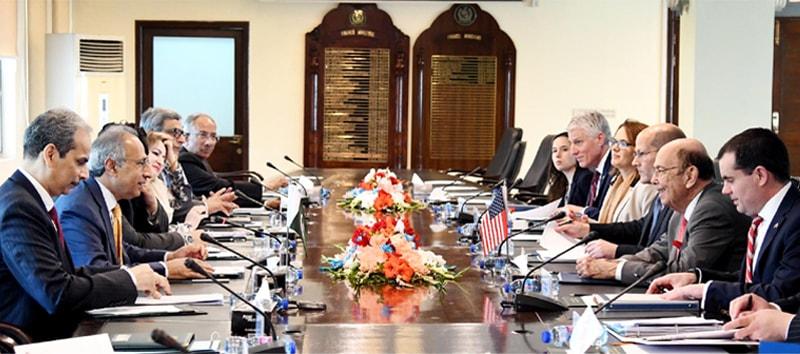 US Secretary Commerce Wilbur Ross and Finance Adviser Abdul Hafeez Shaikh hold talks on Wednesday.