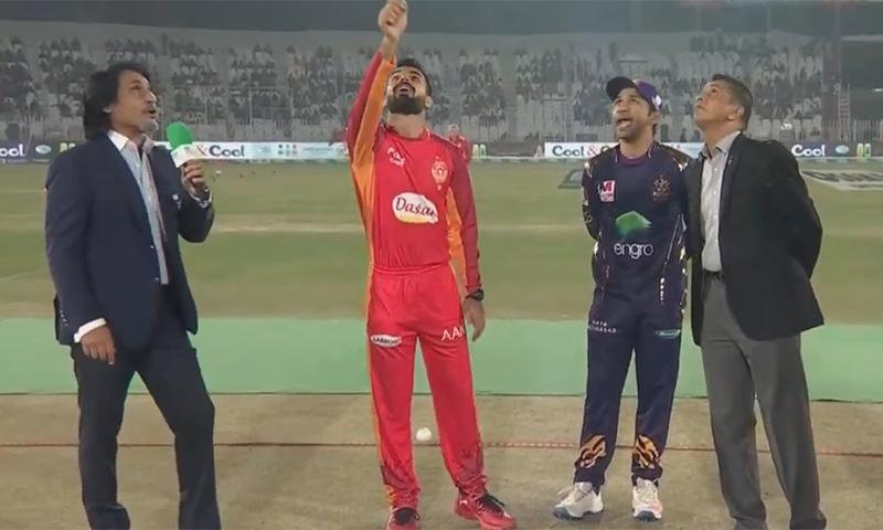 Quetta Gladiators won the toss. — DawnNewsTv