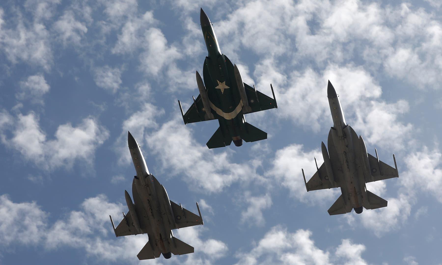 PAF JF-17 Thunder jets. — Reuters