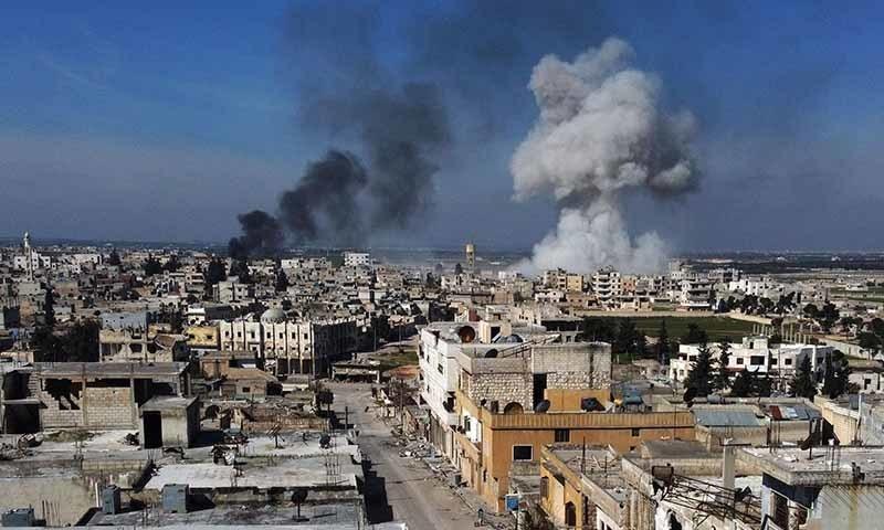 ترک فوج نے فضائی حملے کے بعد تمام معلوم ٹھکانوں کو نشانہ   بنایا—تصویر: اے ایف پی