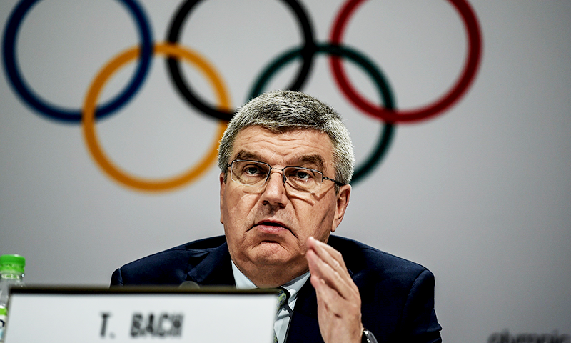 "The IOC ""is fully committed to a successful Olympic Games in Tokyo starting July 24"", Thomas Bach told Japanese media in a conference call. — AFP/File"