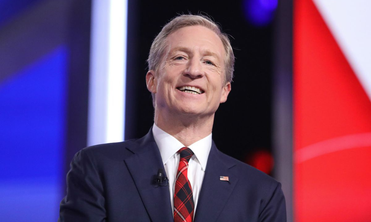 Tom Steyer has hoisted himself into third place in state polls with his promises of compensation for slave descendent. — AFP/File